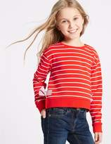 Marks and Spencer Side Bow Sweatshirt (3-16 Years)