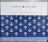 Tommy Hilfiger QUEEN Sheet Set White Anchors on Blue
