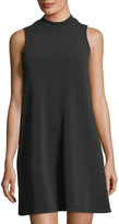 Neiman Marcus Textured Knit Sleeveless Trapeze Dress