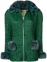 Jean Paul Gaultier Pre Owned microship quilt fitted jacket