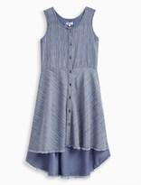 Splendid Girl Print Stripe Woven Dress