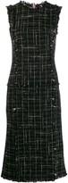 Thom Browne Classic Plaid Ribbon Tweed Pencil Dress