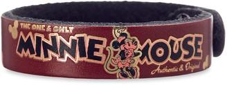 Disney Minnie Mouse Icon Leather Bracelet Personalizable