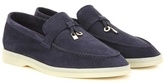Loro Piana Summer Charms Walk Embellished Suede Loafers