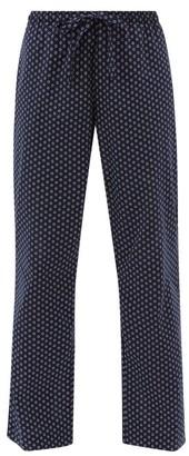Derek Rose Nelson 79 Floral-print Cotton Lounge Trousers - Navy