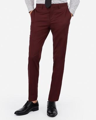 Express Slim Plum Cotton-Blend Stretch Suit Pant
