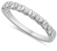 Macy's Diamond Bar Band (1/2 ct. t.w.) in 14k White Gold