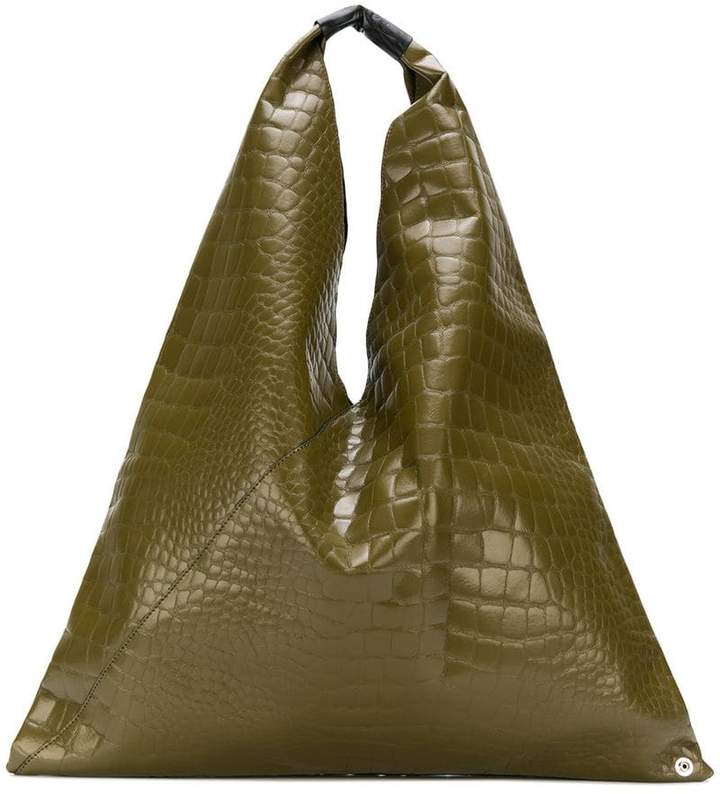 MM6 MAISON MARGIELA croc effect tote bag