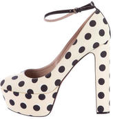 Rochas Printed Platform Pumps w/ Tags