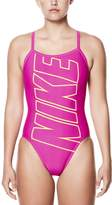 Nike Women's Performance Logo Racerback One-Piece Swimsuit