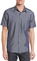 Maker & Company Men's Tailored Fit Stripe Sport Shirt