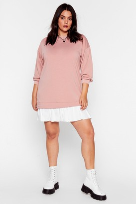 Nasty Gal Womens Knock Hem Dead Plus Mini Dress - Blush