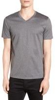 BOSS 'Teal' Slim Fit Mercerized Cotton V-Neck T-Shirt