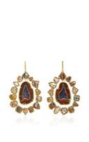 Kimberly McDonald Geode and Diamond Slice Earrings