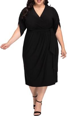 Kiyonna Eden Faux Wrap Dress
