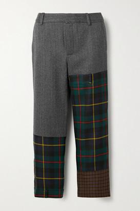 Monse Patchwork Wool-blend Straight-leg Pants - Gray