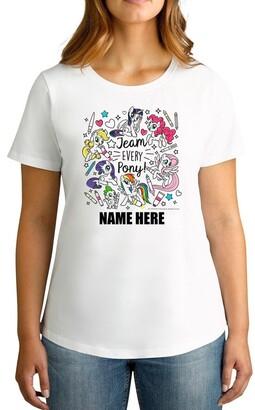 My Little Pony TWIDLA Personalised T-shirts Women's Team Every Pony Personalised Cotton T-Shirt