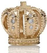 Pandora 14ct Gold and Diamond Royal Crown Charm