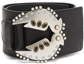 Isabel Marant Yona Studded Leather Belt - Womens - Black