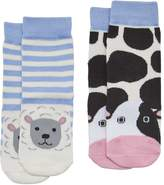 Joules Baby Boys Two Pack Character Socks - Farm