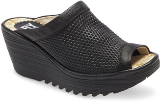 Fly London Yeno Wedge Slide Sandal