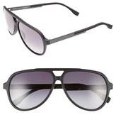 BOSS Men's 60Mm Aviator Sunglasses - Havana/ Brown Gradient