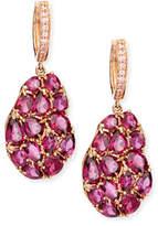 Rina Limor Fine Jewelry Wavy Rhodolite Drop Earrings