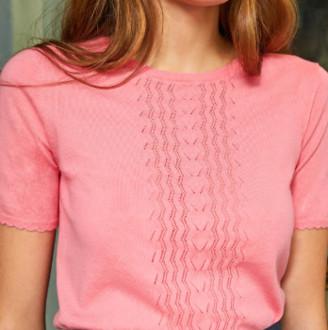 Petite Mendigote top Teo - XS (34-36)   rosa   Pink Fluo - Rosa