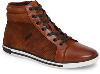 Kenneth Cole New York Initial Point High-Top Leather Sneaker