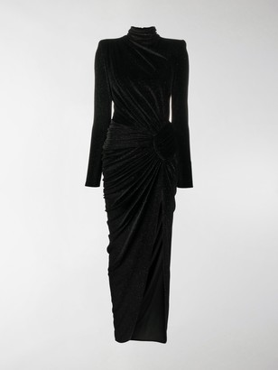 Alexandre Vauthier Lurex Side Slit Dress