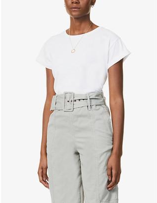 Sessun Scoop-neck cotton-blend T-shirt