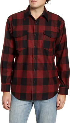 Pendleton Guide Buffalo Check Button-Up Wool Flannel Shirt
