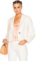 Raquel Allegra Cropped Blazer in White.
