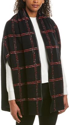 St. John Leather-Trim Wool-Blend Shawl