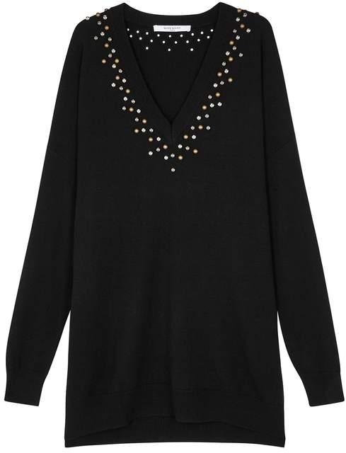Givenchy Black Oversized Wool-blend Jumper