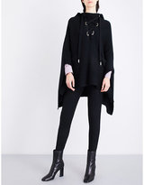 Maje Million knitted lace-up poncho