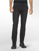 Calvin Klein Slim Leg Sateen Moto Jeans