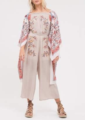 Blu Pepper Paisley Floral Printed Kimono