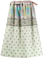 Pierre Louis Mascia patchwork-print skirt