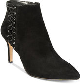 INC International Concepts Women's Tovie Lace-Up Dress Booties, Only at Macy's