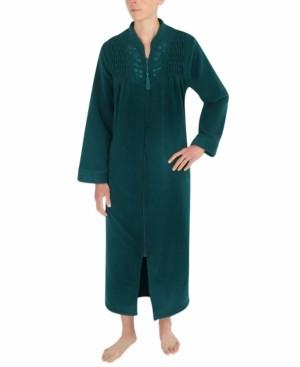 Miss Elaine Petite Brushed-Back Terry Long Zip Robe