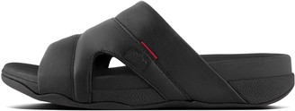 FitFlop Freeway Mens Leather Pool Slides