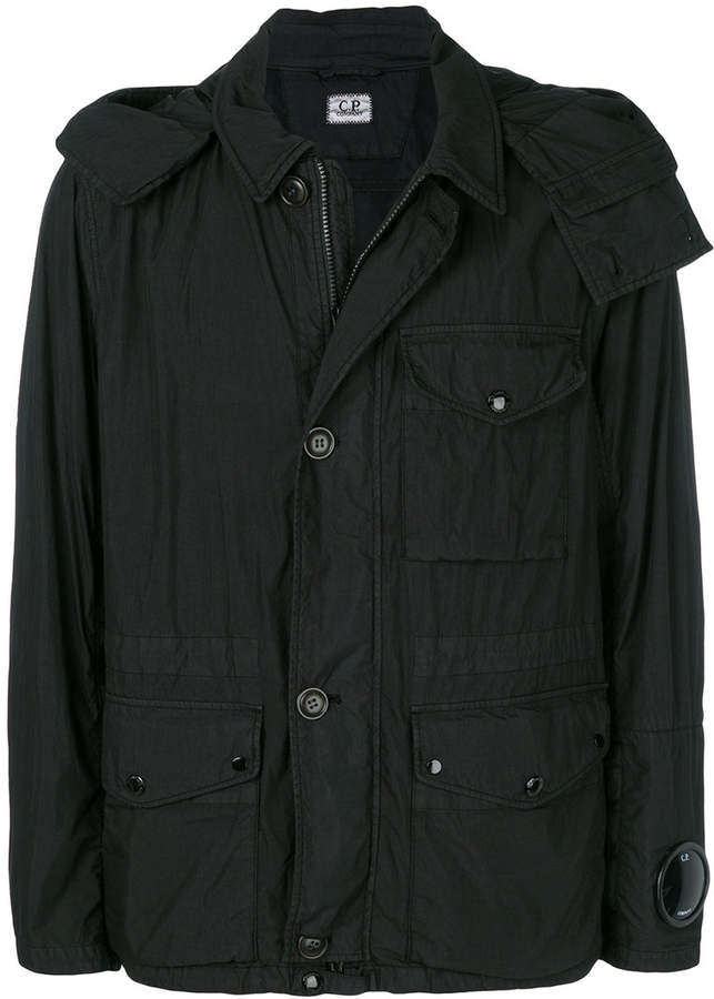 C.P. Company lightly-filled hooded jacket