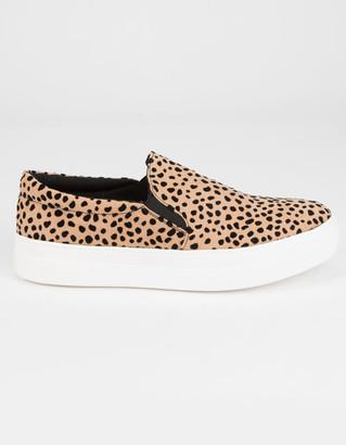 Soda Sunglasses Platform Womens Leopard Slip-On Shoes
