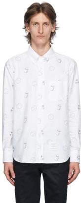 Thom Browne White Oxford Multi Ball Print Shirt