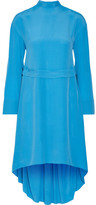 Cédric Charlier Crepe De Chine Dress - Bright blue