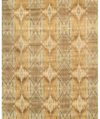 Blue Area Ikat Hand-Knotted Gray/Light Rug Pasargad Rug Size: Rectangle 9' x 12'