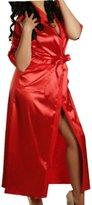 TRURENDI Generic Women Silk Kimono Long Stain Dressing Bath Robe Babydoll Lingerie Nightdress (S, )