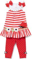 Nannette Red & White Ladybug Tunic & Leggings - Infant Toddler & Girls