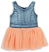 GUESS Girls 2-6x Denim and Tulle Dress